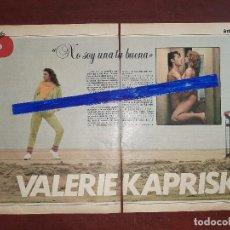 Coleccionismo de Revistas y Periódicos: VALERIE KAPRISKI - ENTREVISTA - RECORTE 3 PAG - REVISTA INTERVIU AÑO 1984. Lote 195375395