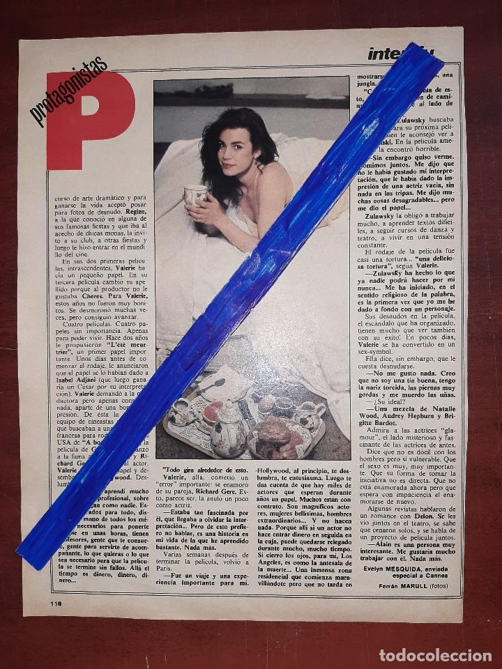 Coleccionismo de Revistas y Periódicos: VALERIE KAPRISKI - ENTREVISTA - RECORTE 3 PAG - REVISTA INTERVIU AÑO 1984 - Foto 2 - 195375395