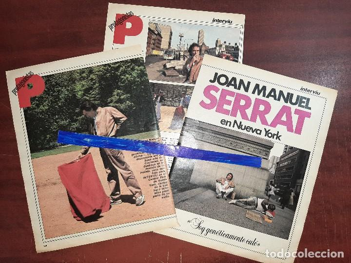 JOAN MANUEL SERRAT EN NUEVA YORK - ENTREVISTA - RECORTE 4 PAG - REVISTA INTERVIU AÑO 1984 (Coleccionismo - Revistas y Periódicos Modernos (a partir de 1.940) - Otros)