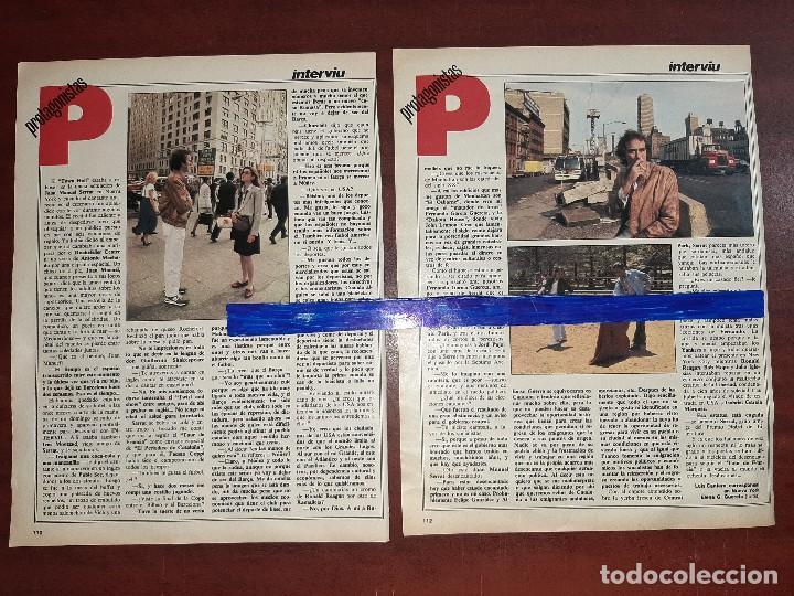 Coleccionismo de Revistas y Periódicos: JOAN MANUEL SERRAT EN NUEVA YORK - ENTREVISTA - RECORTE 4 PAG - REVISTA INTERVIU AÑO 1984 - Foto 2 - 195376092