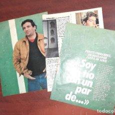 Coleccionismo de Revistas y Periódicos: PERICO FERNANDEZ - ENTREVISTA - RECORTE 5 PAG - REVISTA INTERVIU AÑO 1984. Lote 195376478