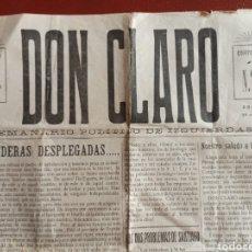 Coleccionismo de Revistas y Periódicos: DON CLARO, SEMANARIO POLÍTICO DE IZQUIERDAS. SANTIAGO DE COMPOSTELA 1931. LA CORUÑA, GALICIA. Lote 195376507