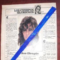 Coleccionismo de Revistas y Periódicos: ANA OBREGON - ENTREVISTA - RECORTE 1 PAG - REVISTA INTERVIU AÑO 1984. Lote 195376603