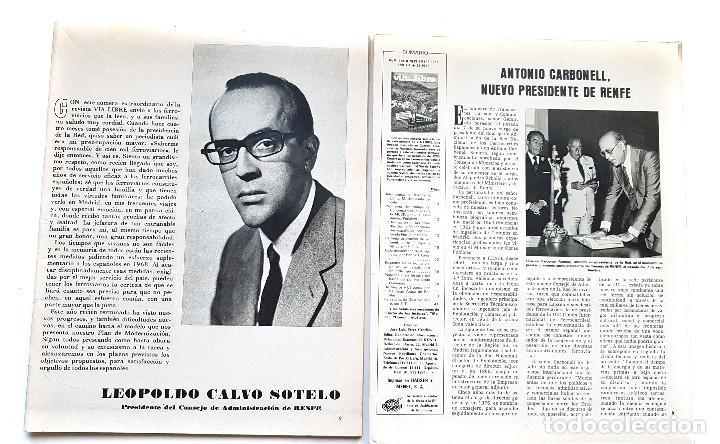 Coleccionismo de Revistas y Periódicos: REVISTA FERROVIARIA, VIA LIBRE LOTE - Foto 2 - 195377470