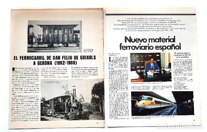 Coleccionismo de Revistas y Periódicos: REVISTA FERROVIARIA, VIA LIBRE LOTE - Foto 4 - 195377470