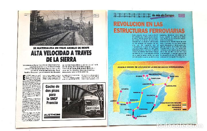 Coleccionismo de Revistas y Periódicos: REVISTA FERROVIARIA, VIA LIBRE LOTE - Foto 8 - 195377470