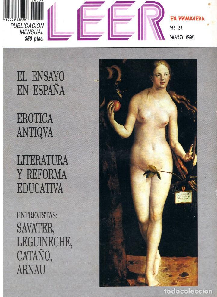 LEER. Nº 31. MAYO 1990. (Coleccionismo - Revistas y Periódicos Modernos (a partir de 1.940) - Otros)