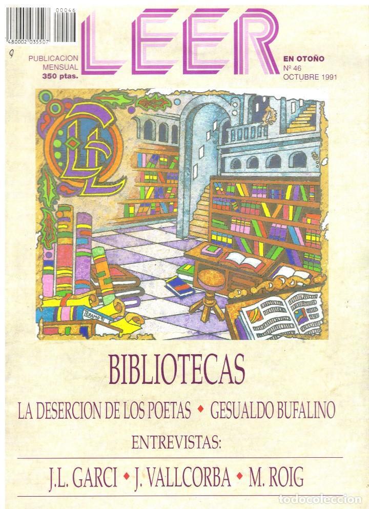 LEER. Nº 46. OCTUBRE 1991. (Coleccionismo - Revistas y Periódicos Modernos (a partir de 1.940) - Otros)