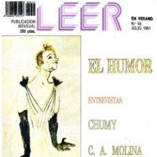 Coleccionismo de Revistas y Periódicos: LEER. Nº 44. JULIO 1991.. Lote 195382225