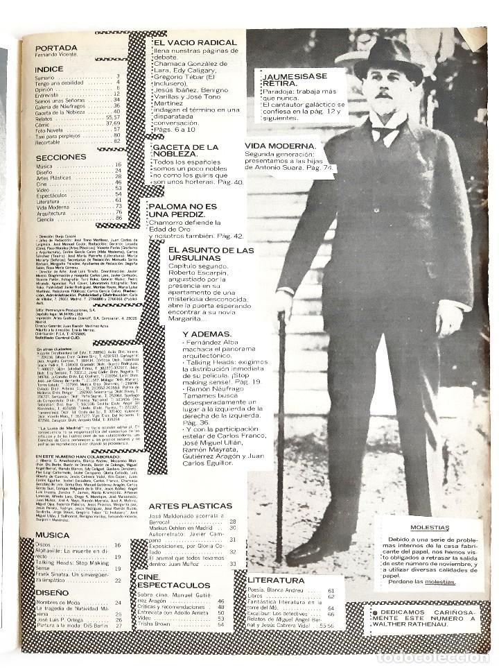Coleccionismo de Revistas y Periódicos: LA LUNA DE MADRID - NOVIEMBRE 1984 - 12 - Foto 2 - 195386661