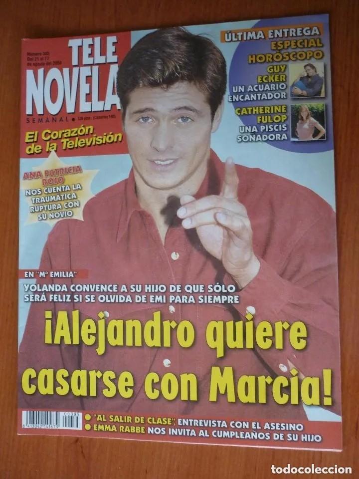 REVISTA TELENOVELA Nº 385.AGO 2000 (Coleccionismo - Revistas y Periódicos Modernos (a partir de 1.940) - Otros)