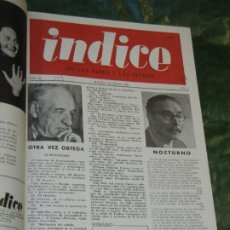 Coleccionismo de Revistas y Periódicos: VOLUMEN ENCUADERNANDO INDICE DE LAS ARTES Y DE LA LETRAS - 1949-1951 NUMEROS 23 A 43 (21 NUMS.). Lote 195391520