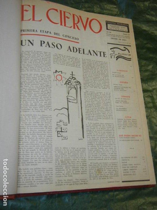 VOLUMEN ENCUADERNANDO EL CIERVO - 1963-1964 NUMEROS 111 A 130 (20 NUMS.) (Coleccionismo - Revistas y Periódicos Modernos (a partir de 1.940) - Otros)