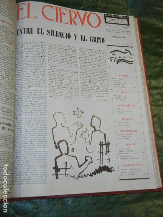 Coleccionismo de Revistas y Periódicos: VOLUMEN ENCUADERNANDO EL CIERVO - 1963-1964 NUMEROS 111 A 130 (20 NUMS.) - Foto 2 - 195392006