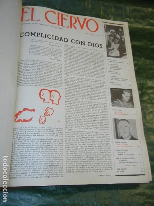 VOLUMEN ENCUADERNANDO EL CIERVO - 1965-1966 NUMEROS 131 A 154 (24 NUMS.) (Coleccionismo - Revistas y Periódicos Modernos (a partir de 1.940) - Otros)