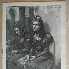Coleccionismo de Revistas y Periódicos: BLANCO Y NEGRO. AÑO 1898, Nº 378. VER FOTOS INTERIORES PARA DETALLES. Lote 195409166