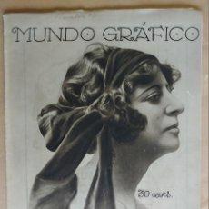 Coleccionismo de Revistas y Periódicos: MUNDO GRAFICO. AÑO 1923, Nº 590. INFANTE BARCELONA, DEHESA DUQUE TOVAR, BREKER, . Lote 195416310