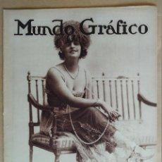 Coleccionismo de Revistas y Periódicos: MUNDO GRAFICO. AÑO 1923, Nº 586. OCUPACION RUHR, MAQUINISTAS, MILITARES , MELILLA, EIBAR, FERROL. Lote 195417033
