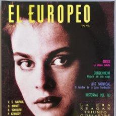 Coleccionismo de Revistas y Periódicos: REVISTA EL EUROPEO - Nº 28 - ENERO 1991 - NASTASSIA KINSKI - SIUX - GUGGENHEIM. Lote 195433025