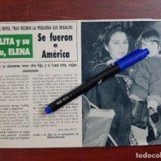 Coleccionismo de Revistas y Periódicos: LOLITA FLORES Y SU HIJA ELENA SE FUERON A AMERICA - ENTREVISTA- RECORTE - REVISTA HOLA AÑO 1990. Lote 195438443