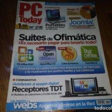 Coleccionismo de Revistas y Periódicos: REVISTA PC TODAY N° 216 . Lote 195447310
