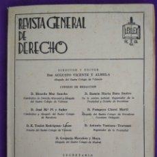 Coleccionismo de Revistas y Periódicos: REVISTA GENERAL DE DERECHO NUMA. 322-23 JULIO, AGOSTO 1971. Lote 195457675
