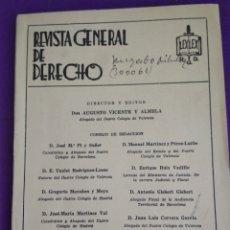 Coleccionismo de Revistas y Periódicos: REVISTA GENERAL DE DERECHO NUM.439 ABRIL 1981.. Lote 195457910