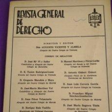 Coleccionismo de Revistas y Periódicos: REVISTA GENERAL DE DERECHO, NUM 466-467 JULIO - AGOSTO 1983.. Lote 195458141