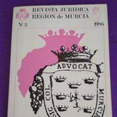 Coleccionismo de Revistas y Periódicos: REVISTA JURÍDICA REGIÓN DE MURCIA, N°3, 1.986.. Lote 195460212