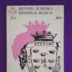 Coleccionismo de Revistas y Periódicos: REVISTA JURÍDICA REGIÓN DE MURCIA, N°4, 1.986.. Lote 195460487