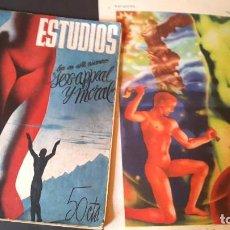 Coleccionismo de Revistas y Periódicos: REVISTA ESTUDIOS - RENAU Y MONLEÓN - 1936 - POSTER DOBLE Y REVISTA . Lote 195463287