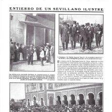 Coleccionismo de Revistas y Periódicos: 1911 HOJA REVISTA SEVILLA ENTIERRO CAYETANO LUCA DE TENA HERMANOS TORCUATO Y NICOLÁS LIMOSNAS VIUDA. Lote 195471026