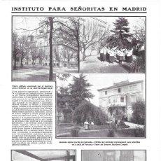 Coleccionismo de Revistas y Periódicos: 1911 HOJA REVISTA MADRID INSTITUTO INTERNACIONAL PARA SEÑORITAS EDIFICIOS LABORATORIO GIMNASIA BIBLI. Lote 195471252