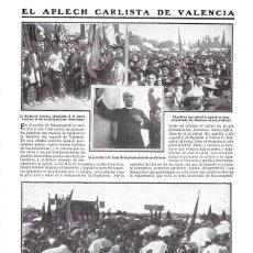 Coleccionismo de Revistas y Periódicos: 1911 HOJA REVIS VALENCIA MASAMAGRELL APLECH CARLISTA BANDERA TRADICIONALISTA DALMACIO IGLESIAS, REDÓ. Lote 195471446
