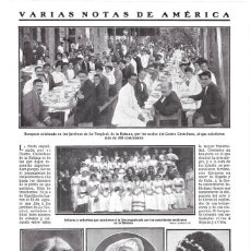 Coleccionismo de Revistas y Periódicos: 1911 HOJA REVISTA CUBA LA HABANA BANQUETE CENTRO CASTELLANO SOCIOS Y MUJERES EN 'LA TROPICAL'. Lote 195471627