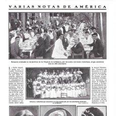 Coleccionismo de Revistas y Periódicos: 1911 HOJA REVISTA ACTOR EN AMÉRICA BERNARDO JAMBRINA ACTRIZ MERCEDES NAVARRO, EVANGELINA ADAMS CUBA. Lote 195471833