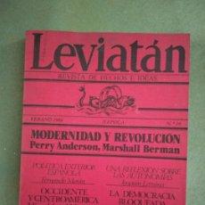 Coleccionismo de Revistas y Periódicos: REVISTA LEVIATÁN Nº 18 INVIERNO 1984. Lote 195477051