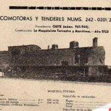 Coleccionismo de Revistas y Periódicos: LOCOMOTORA 242-0201 / 242-0204 PRESTACIONES, CARACTERISTICAS Y FABRICANTE FERROVIARIOS Nº 71. Lote 195477868