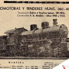 Coleccionismo de Revistas y Periódicos: LOCOMOTORA 060-4021/ 060 4023 PRESTACIONES, CARACTERISTICAS Y FABRICANTE FERROVIARIOS Nº 71. Lote 195478287