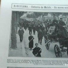 Coleccionismo de Revistas y Periódicos: ENTIERRO JOAQUIN MALATS PIANISTA CRIMEN GRANADA TARAZONA MANCHA MOLLERUSA MANISES NACIONALISTAS 1912. Lote 195492140