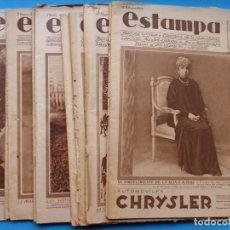 Coleccionismo de Revistas y Periódicos: ESTAMPA - 12 REVISTAS AÑOS 1929-1930-1932 Y 1936, VER FOTOS ADICIONALES. Lote 195502910