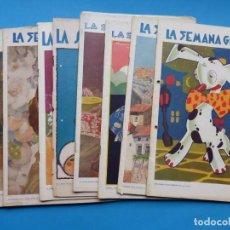 Coleccionismo de Revistas y Periódicos: LA SEMANA GRAFICA - 10 REVISTAS AÑOS 1929 Y 1930, VER FOTOS ADICIONALES. Lote 195504340