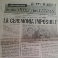 Coleccionismo de Revistas y Periódicos: SURREALISMO 50 AÑOS. SUPLEMENTO DE LAS ARTES Y LAS LETRAS DE DIARIO INFORMACIONES DE 17 0CTUBRE 1974. Lote 195513833