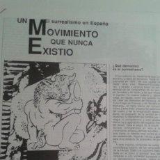 Coleccionismo de Revistas y Periódicos: UN SURREALISMO EN ESPAÑA QUE NUNCA EXISTIO. EDUARDO HARO IBARS. RECORTE 5 PAGINAS DE IMPRECOR 1988. Lote 195514072
