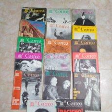 Coleccionismo de Revistas y Periódicos: LOTE DE 17 REVISTAS EL CORREO AÑOS 50 Y 60. Lote 195516042