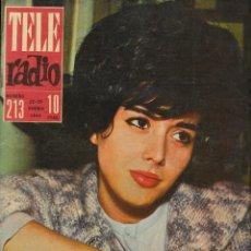 Coleccionismo de Revistas y Periódicos: REVISTA TELE RADIO Nº 213, 22-28 ENERO 1962, TERESA DEL RIO, GILA, MINA EN PAGINAS INTERIORES. Lote 195517717