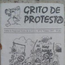 Coleccionismo de Revistas y Periódicos: GRITO DE PROTESTA Nº 9 1997. REGIONAL NORTE DE LA FEDERACION IBERICA DE JUVENTUDES LIBERTARIAS. Lote 195523531