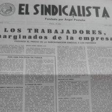 Coleccionismo de Revistas y Periódicos: EL SINDICALISTA Nº 3 JULIO 1978. ORGANO DEL PARTIDO SINDICALISTA FUNDADO POR ANGEL PESTAÑA, GUINEA. Lote 195523770