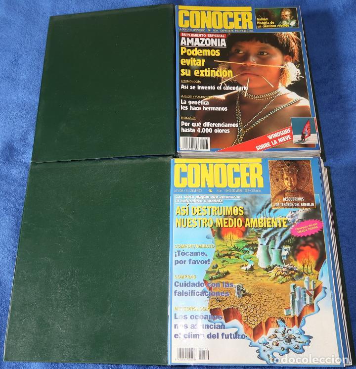 Coleccionismo de Revistas y Periódicos: Conocer - Lote de revistas del nº 100 al 122 en dos archivadores - Foto 2 - 195525225