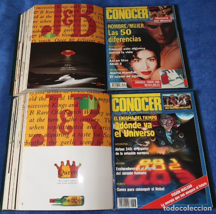 Coleccionismo de Revistas y Periódicos: Conocer - Lote de revistas del nº 100 al 122 en dos archivadores - Foto 3 - 195525225